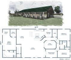 Steel home kit prices a low pricing on metal houses green homes barn kits pole floor . metal houses pictures barn house style homes plans Metal House Plans, Dream House Plans, Square House Floor Plans, 40x60 House Plans, Metal Homes Floor Plans, Shop House Plans, Steel Home Kits, Steel Building Homes, Br House