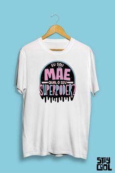 Dia das mães Mens Tops, T Shirt, Fashion, Supreme T Shirt, Moda, Tee Shirt, Fashion Styles, Fashion Illustrations, Tee