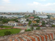Vista desde Castillo San Felipe de Barajas, Cartegena de Indias - Colombia.