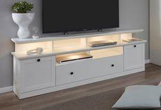 Lowboard »Baxter« inkl. Aufsatz, Breite 177 cm Glass Bedroom Furniture, Tv Rack, Mansion Interior, Tv Cabinets, Tv Unit, First Home, Room Decor, Home Appliances, Luxury