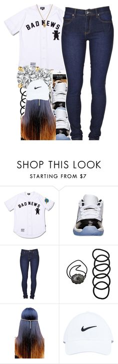 """read d"" by yeauxbriana ❤ liked on Polyvore featuring Chapstick, Retrò, Dr. Denim, Wet Seal, NIKE and Zoe & Morgan"
