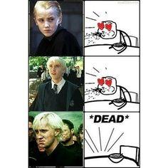 Fangirls' reaction to Tom Felton as Draco Malfoy