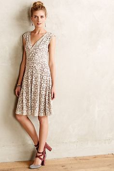 Brushed Lace Dress - anthropologie.com