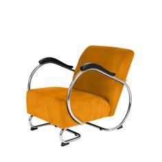 Retro buisframe fauteuil De Dikkert is een buisframe design fauteuil en leverbaar in veel verschillende kleuren ribstof. Een tijdloze fauteuil uit de jaren '3