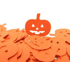 Jack o Lantern Confetti for Halloween Parties