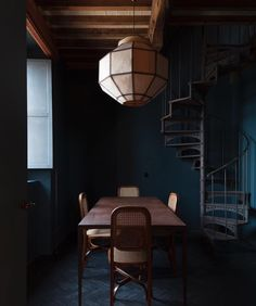 A favorite from the latest VL outtakes, La Macchia beach club in Capalbio, designed by the talented - and a favorite out of Europe - design duo Dark Walls, Blue Walls, Deeper Shade Of Blue, Vogue Living, Modern Victorian, Dark Interiors, Interior Decorating, Interior Design, Interior Stylist