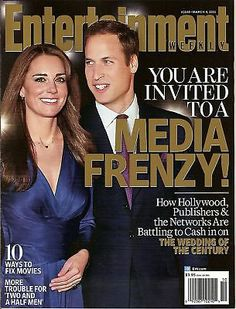 Entertainment Weekly, Kate Middleton, Prince William, March 2011~NEW~