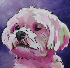 Sophie the dog Ceramic Coaster by KarrenGarces on Etsy, $5.00