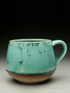 perfect blend of rustic yet classy. great color and design coffeegoeshere: Vintage turquoise coffee mug / pottery Pottery Mugs, Ceramic Pottery, Pottery Art, Pottery Ideas, Vintage Pottery, Handmade Pottery, Ceramic Cups, Ceramic Art, Vintage Turquoise