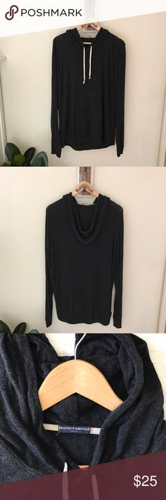 Brandy Sweatshirt Super comfortable and soft cotton sweater! Nice and long, perfect with leggings Brandy Melville Tops Sweatshirts & Hoodies