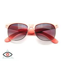 62360fcbf0 Pastel Colors Flat Top Half Frame Clubmaster Wayfarer Sunglasses. Emblem  Eyewear · Southern Style