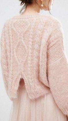 Knitting Patterns Mohair Pretty In Pink Winter Sweater Knit Fashion, Love Fashion, Autumn Fashion, Latest Fashion, Fashion Trends, Gilet Crochet, Knit Crochet, Look Rose, Pink Jumper