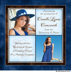 Image detail for -College Graduation Announcement - Personalized Photo University Degree Graduation Pictures, Graduation 2015, Graduation Ideas, University Of Maine, University Degree, Graduation Invitations, Invites, College Graduation Announcements, Pink Photo