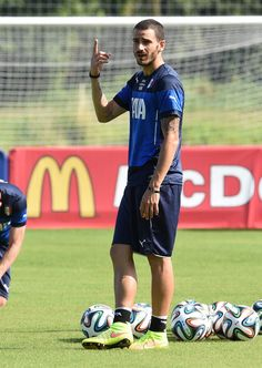 Leonardo Bonucci of Italy during a training session on June 16, 2014 in Rio de Janeiro, Brazil.
