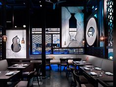 A glimpse inside Hakkasan Las Vegas restaurant, located in the MGM Grand Hotel.