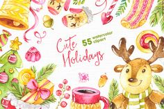 Cute Holidays. -20% Christmas Bundle by starjam on Creative Market