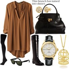 """This brunch has turned into dinner."" by caryrandolph on Polyvore"