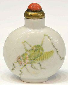 19th Century Snuff Bottle, Qing Dynasty, (1644-1911 AD).