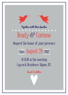 cute customizable wedding invitations