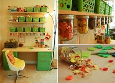 Sewing Storage Ideas | Sewing storage ideas; mason jars for buttons | Studio