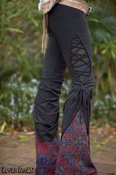 Stained Glass Teardrop Dance Pants  in Black by ElvenForest, $97.00