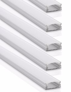 - Pack of (5) five 1M/3.3ft long aluminum channels; U-shape extrusion - Includes (10) end caps & (20) mounting clips (10x steel and 10x clear) - Accepts LED strips up to 12.5mm wide (such as 3528, 505