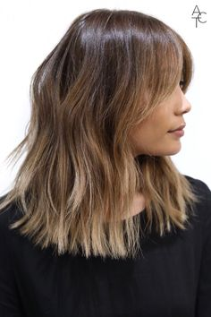 Mid-Length Cut/Style: Anh Co Tran • IG: @Anh Co Tran • Appointment inquiries please call Ramirez|Tran Salon in Beverly Hills at 310.724.8167. #dreamhair #fantastichair #amazinghair #anhcotran