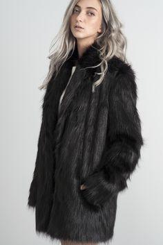 Black Mona faux Fur coat. Winter choice. Monx Brand faux Fur Coats AW 16-17