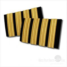Buy latest Epaulets Gold 4 - 4 golden bars with white pilot shirts. Shop for pilot Accessories and Epaulets in a range of style Pilot Uniform, Uniform Shirts, Tailored Shirts, Bar Accessories, Plane, Gold, Stuff To Buy, Club, Twitter