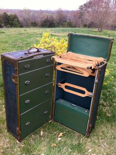 Antique Mendel Steamer Wardrobe Trunk C. 1920s