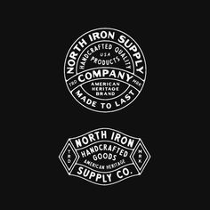North Iron Supply Co by Don't forget to share your work with or tag us Seal Design, Design Logo, Badge Design, Branding Design, Art Design, Vintage Typography, Typography Letters, Typography Logo, Logo Branding