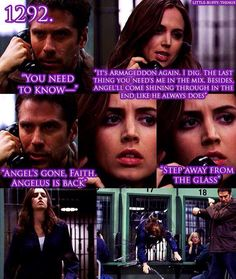 "Little Buffy things 1292. ""Step away from the glass."" Angel"