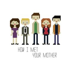 How I Met Your Mother Cross Stitch Pattern por YouMakeMeSewHappy, $5.99