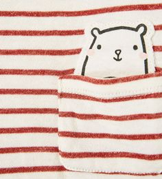 Image 4 of STRIPED T-SHIRT WITH SMALL ANIMAL PATCH from Zara