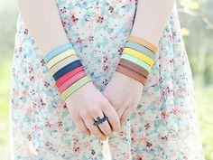 Colorful leather bracelet Boho bracelet set Minimalist bracelet Vegan leather bracelet Custom color Vegan bracelet Vegan gift for friend Vegan Clothing, Vegan Gifts, Colorful Bracelets, Dusty Pink, Bracelet Set, Bunt, Gifts For Friends, Vegan Leather, Fancy