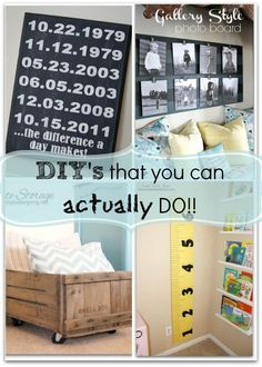 We have all seen those home DIY ideas that we think we can do, but once we get started it is a great big epic fail! For real! I think I can actually do all four of these DIY ideas! I found all four of these on our weekly Whimsy Wednesday! There are a ton of great ideas on Whimsy Wednesday - be sure to check it out!