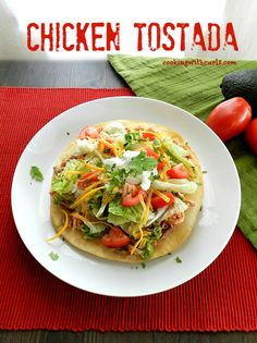 Delicious Chicken Tostadas at ALittleClaireification.com #recipes #MexicanFood