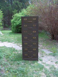 Industrial  Vintage Metal Filing Cabinet
