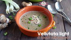 Vellutata+light+di+funghi+(140+calorie+a+porzione)