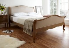 Amelia Oak Bed Frame (HFE) - £499.   The Amelia High foot end bed combines all the beauty and elegance of it's lower foot ended sister