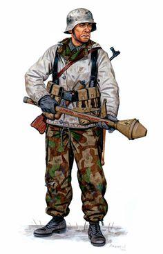 Unterfeldwebel (Sargento 2do). 561. Volksgrenadier Division. Prusia Oriental, Invierno 1944-45