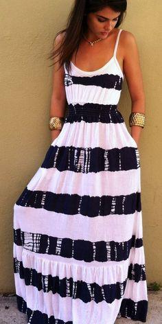 Everyday New Fashion: Summer Stripes Maxi Dress