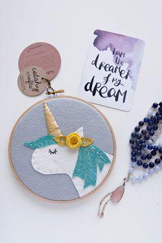 Woodland Deer Girl Embroidered Art Hoop