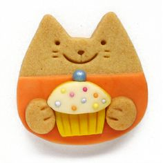cupcake love kitty cookie