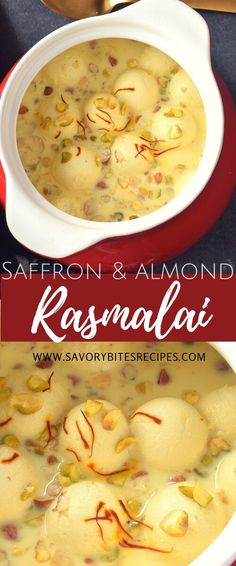 Melt in mouth ,delicious homemade,Rasmalai (Cottage Cheese dumplings cooked in flavored Milk) with goodness of Saffron and Almond Powd...