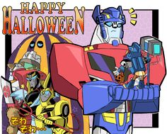 halloween 2010 by kouno-B on DeviantArt. PFFT! Optimus you're killing me with the face!!! XDXD
