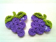 4pcs Grape Crochet Appliques made to order от appliquefarm, $3.20