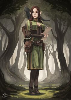 Elf explorer by cj-backman d&d character design fantasy char Character Design Cartoon, Fantasy Character Design, Character Creation, Character Concept, Character Art, Dungeons And Dragons Characters, D D Characters, Fantasy Characters, Fantasy Kunst
