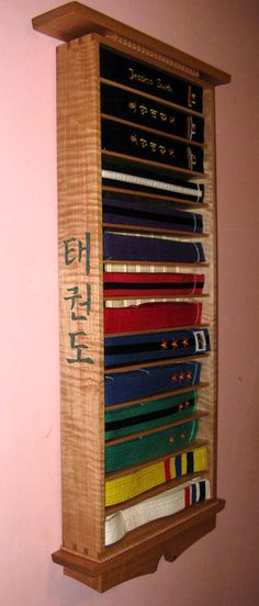 DIY Tae Kwon Do Belt Display with directions.
