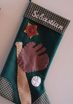Have a baseball lover in the family? This baseball Christmas stocking is super cute!